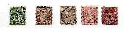 Switzerland 1862 Collection of 5 to 60c SG58/59/66/67 Used X3784