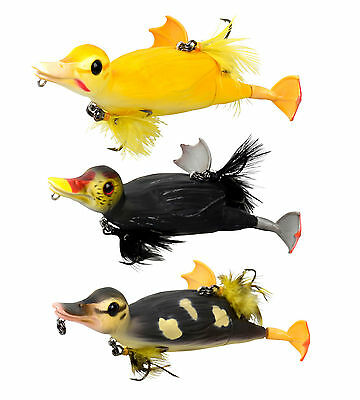 SAVAGE GEAR 3D SUICIDE DUCK PIKE FISHING LURE FLOATING BUZZ & SPLASH 28g,70g