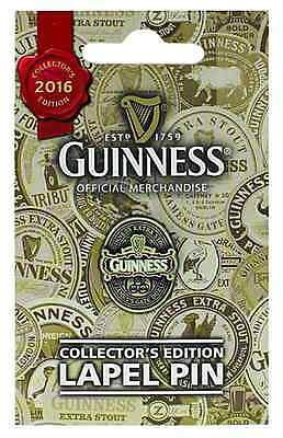 Guinness 2016 Collectors metal lapel pin badge. Licensed product   (sg 5414)
