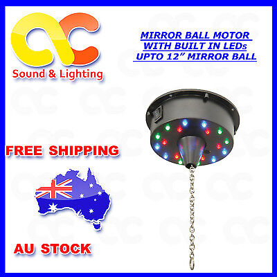 Battery Operated Mirror Ball Motor With Build in LED Max Load 3kg 6rpm 12 inch