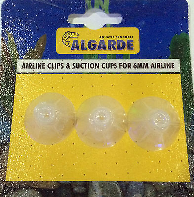 Algarde Airline Clips Suckers Suction Cups 6Mm Air Line Pipe Fish Tank Aquarium