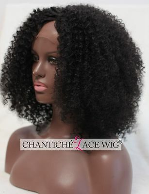 Japanese Fiber Synthetic Hair Lace Front Wigs Black Kinky Curly Wig Heat Safe UK