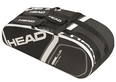 HEAD Core Combi 6 racquet racket tennis bag - Black - Auth Dealer - Reg $45