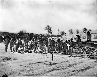 New 11x14 Civil War Photo: Engineer Corps Ambulance Train at Falmouth