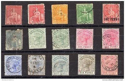 Trinidad QV Collection of 15 to 6d VFU/MH X3612