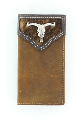 KID'S Size ~Rodeo/Roper WALLET~ Hair & Leather LONGHORN STEER Concho Nocona