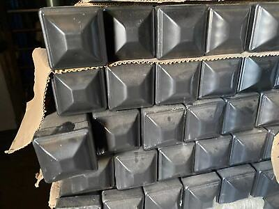 PVC Black Coated Square post without flange 60mm*60mm
