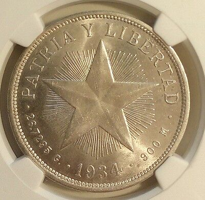 1934 silver Coin Gram 26.7  Graded MS63 NGC