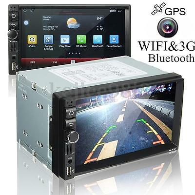 7'' Autoradio Wifi Android 4.4.4 Bluetooth GPS MP5 3G Stereo DVD VCD Player 2DIN