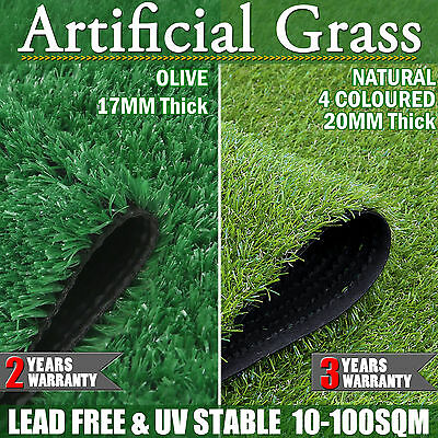 10-100 SQM Synthetic Turf Artificial Grass Plastic Plant Fake Lawn 17mm/20mm