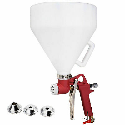Air Hopper Spray Gun Paint Tool Drywall Wall Painting Sprayer w/3 Nozzle