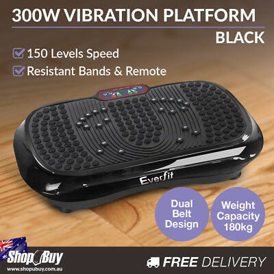 Slim Vibration Plate 1000W Exercise Fitness Massage Weight Loss Power Plate BK