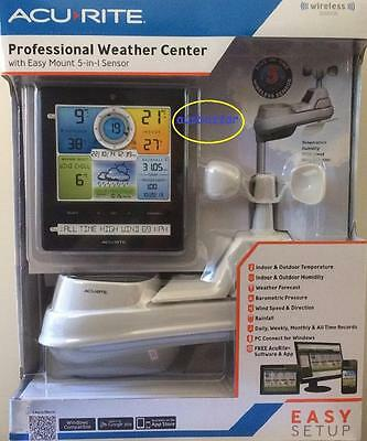 New Acurite Wireless Professional Weather Station 5-in-1 Colour Monitor Phone Ap