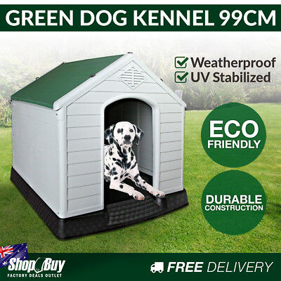 XL Weatherproof Plastic Dog Kennel Pet Puppy Outdoor Indoor Garden Dog House