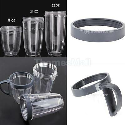 Spare Part Cup Juicer Replacement Mug For Nutribullet 18/24/32OZ w/ Cup Lip Ring