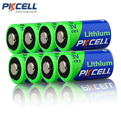 8x CR2 CR2A CR15H270 3V Lithium Li-MnO2 Camera Photo Batteries 850mAh PKCELL