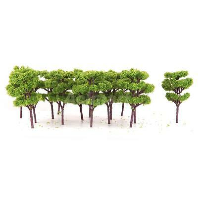 25 Model Trees Z Scale Train Railroad Scenery Wargame Diorama Layout 1:200 DIY