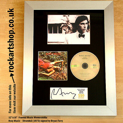 BRYAN FERRY Roxy Music SIGNED Stranded CD Autographed Framed Memorabilia WORLD
