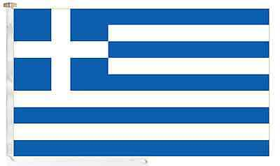 Greece Roped & Toggled 5' x 3' Courtesy Boat Flag