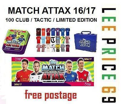 Match Attax 16/17 Choose Hundred / 100 Club / Tactic / Limited Edition Cards