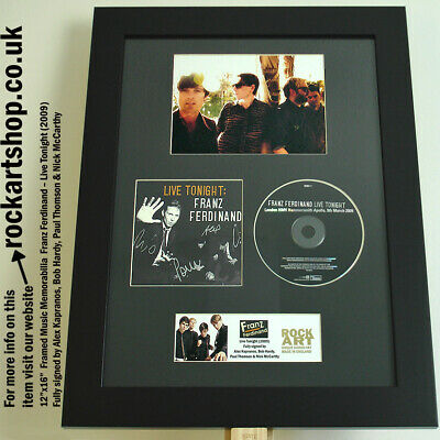 Franz Ferdinand FULLY SIGNED Live Tonight CD Alex Kapranos Autographed *WORLD