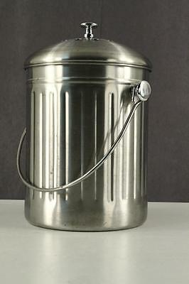 OGGI Modern Aluminum Kitchen Undercounter COMPOST Bucket With CHARCOAL Filter