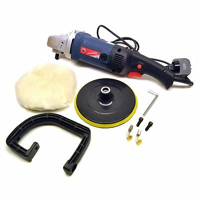 180mm Machine Polisher 1200W Electric Variable Speed Rotary Car Buffer IRE