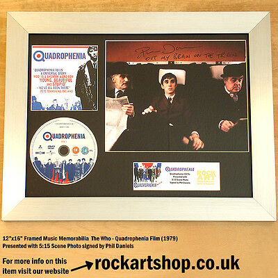 Quadrophenia SIGNED BY PHIL DANIELS Autographed Framed The Who MOD *WORLD SHIP