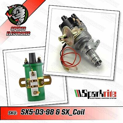 SPARKRITE Electronic Ignition Distributor + Sparkrite Coil For 998cc A Series