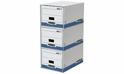 #5xFellowes BANKERS BOX SYSTEM Archiv-Schublade, blau