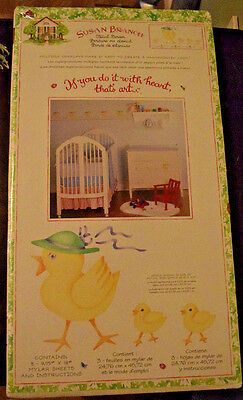 Susan Branch Stencil Border Baby Nursery Wall Yellow Duck Chicks Paint NEW