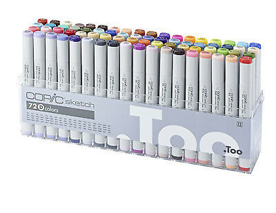 Copic Sketch Marker - 72D Manga Marker Set- Refillable With Copic Various Inks