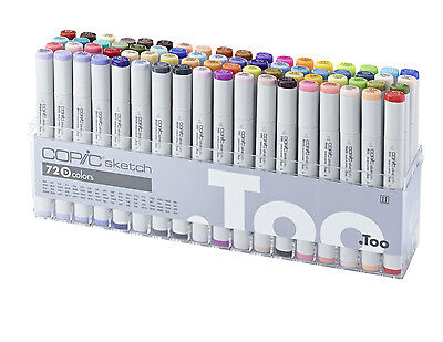 Copic Sketch Marker - 72D Set - Twin Tipped - 72 Unique Colours - Manga Marker