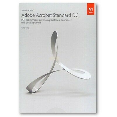 Adobe Acrobat Standard DC 2015 Windows (DE) 1 PC Vollversion ESD