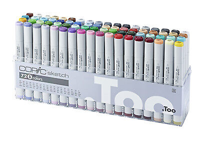 Copic Sketch Marker - 72B Set - Twin Tipped - 72 Unique Colours - Manga Marker