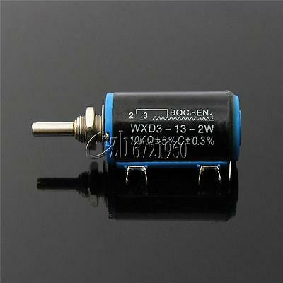 Black Precision WXD3-13-2W Multi-Turn Wirewound Linear Potentiometers 10K OHM