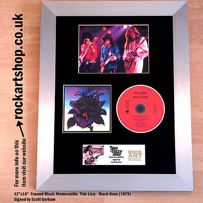THIN LIZZY Black Rose CD SIGNED SCOTT GORHAM Autographed Phil Lynott WORLD SHIP