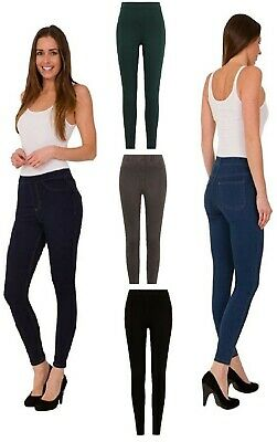 EX M&S Collection 8604 Pull On Jeggings Cotton Rich 8 Colours Added Stretch