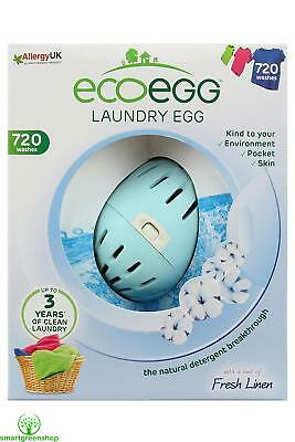 EcoEgg Laundry Egg 720 Washes Soft Cotton Eco-friendly and Hypoallergenic
