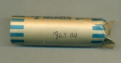 A Nice Au/bu Roll Of 1963 Canada Five Cents, Great Price!