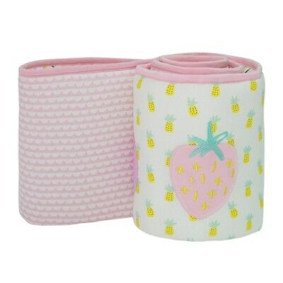 Little Cloud Cot Bumper - Berry Sweet