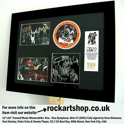 KISS Fully Signed GENE SIMMONS+PAUL STANLEY+PETER CRISS+TOMMY THAYER Autographed