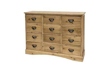 Madia Credenza Cassettone Design Vintage Industriale Shabby Chic Country Legno