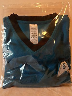 Kellogg's cereal premium promo Star Trek shirt blue Adult Extra Large sealed XL