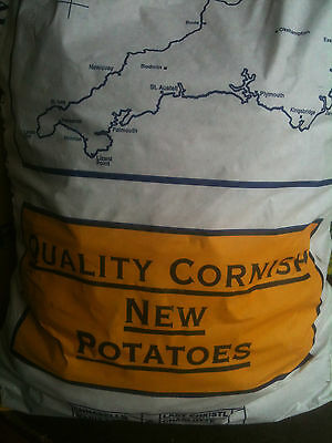 Cornish New Season potatoes  in 25kg bags.