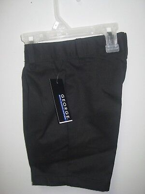George Boys School Uniforms Black Flat Front Shorts; Many Sizes!!