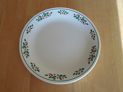 Corelle WINTER HOLLY Set of 8 Dinner Plates Red Green Christmas Holiday & CORELLE WINTER HOLLY Set of 5 Dinner Plates Red Green Christmas ...