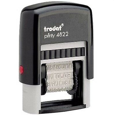 4822 Multi-Word Band Self-Inking Stamper 12 Messages
