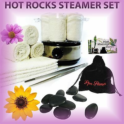 Beauty Salon Towel and Spa Stones Heater Set