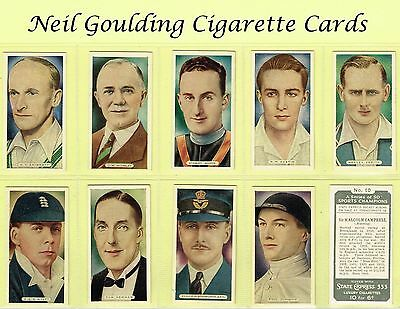 Ardath - Sports Champions (UK issue) 1935 #1 to #50 Cigarette Cards